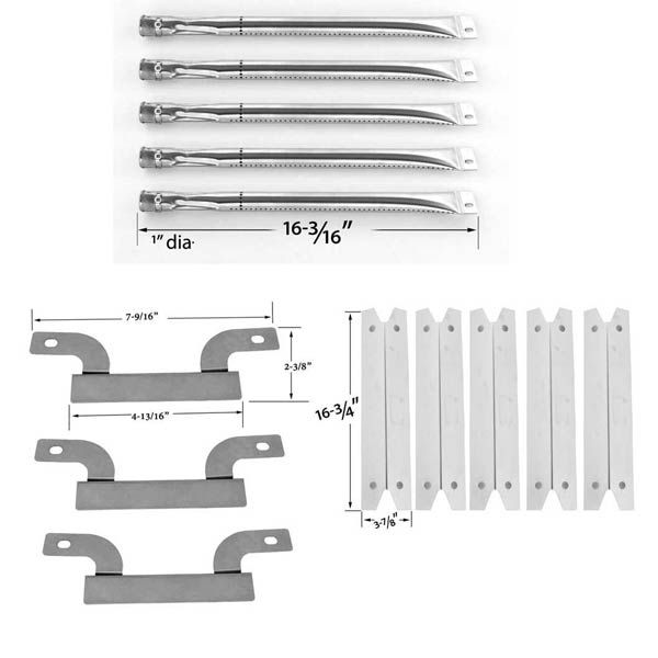 REPAIR KIT FOR BRINKMANN PRO SERIES 1575 FIVE BURNER 810-1575-W BBQ GRILL INCLUDES 5 STAINLESS HEAT PLATES AND 5 STAINLESS BURNERS AND 4 CROSSOVER TUBES Fits Compatible Brinkmann Models : 810-1420-0 (Pro Series 1420) Read More @http://www.grillpartszone.com/shopexd.asp?id=34485&sid=36515