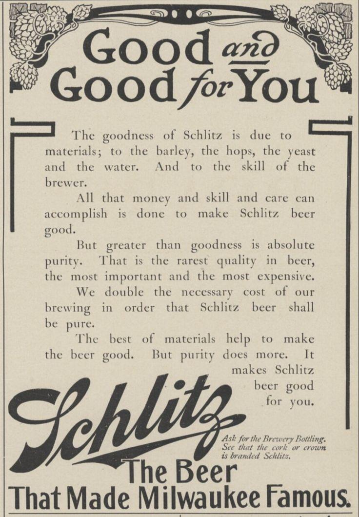 14 best Vintage Schlitz Beer Ads images on Pinterest Schlitz - beer menu