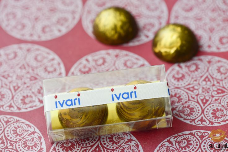 Our signature vanilla bonbons in a box of two for Ivari event favors.