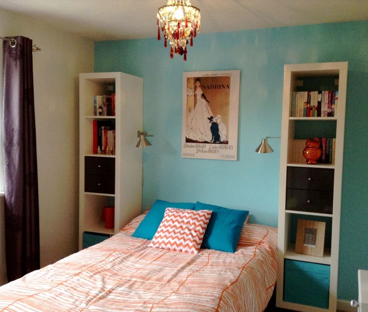 55 best images about bedroom on pinterest twin xl navy for Coral and turquoise bedroom ideas