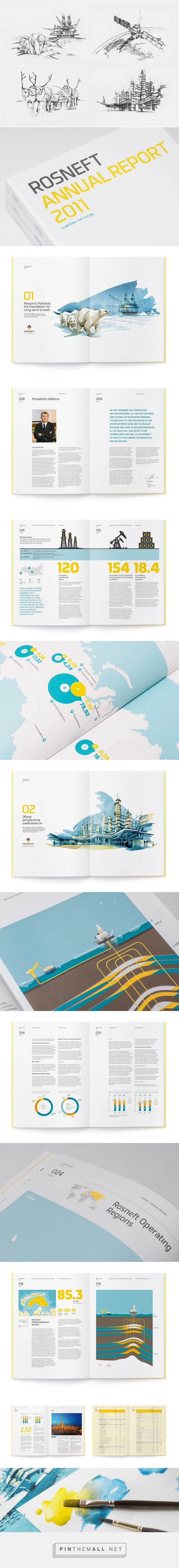 ROSNEFT | Annual report 2011 on Behance - created via https://pinthemall.net