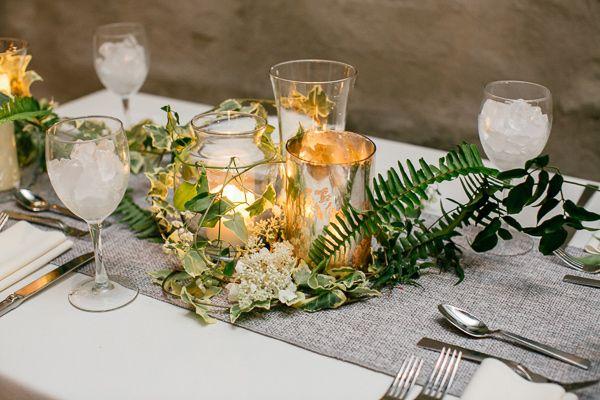 cluster centerpieces - photo by Emily Wren http://ruffledblog.com/front-palmer-philadelphia-wedding