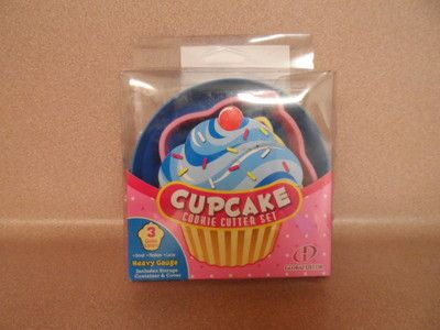 COOKIE CUTTERS - CUPCAKE COOKIE CUTTER SET - GLOBAL DECOR - NEW IN PACKAGE