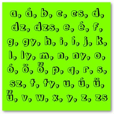 Trait: Language The Hungarian alphabet has 44 letters and is more complex than the American alphabet.