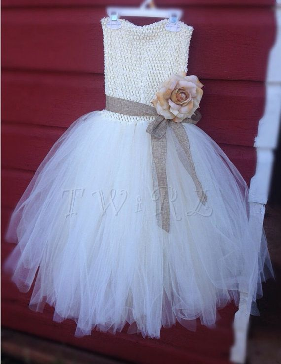 The Edith  rustic flower girl dress country wedding by TheTwirl