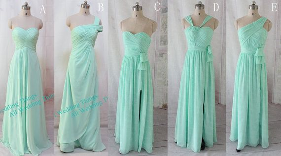 Bridesmaid dresses Mint green Bridesmaid dress, long prom dress , evening formal dress
