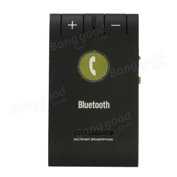 Slim Magnetic Wireless Bluetooth 4.0 Handsfree Car Kit Speaker Sale-Banggood.com