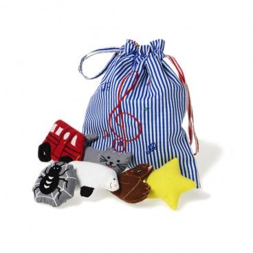 LittleChoux.com - Song Bag.  A great gift for a new older brother or sister to sing songs to the baby.  Pieces also have a pocket in the back so they can function as a puppet.