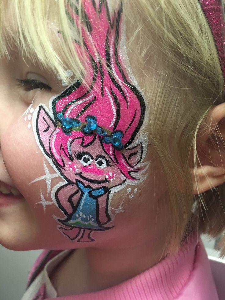 Poppy trolls face paint