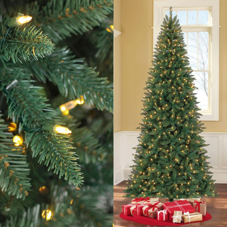 9ft PreLit Artificial Christmas Tree Pine Led Clear Lights Xmas Holiday Stand #MassMarket