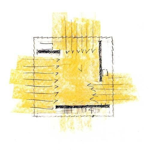 sketch by peter zumthor for kunsthaus bregenz, austria