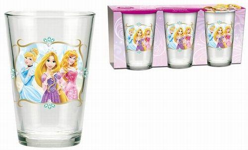 BRUMLA.CZ – Značkový dětský a dospělý second hand a outlet, použité oděvy pro děti a dospělé - Nové - 3x sklenička s princeznami zn. Disney