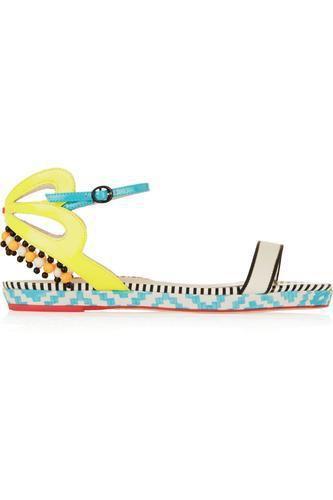 Luca embellished leather sandals #shoes #covetme #sophiawebster