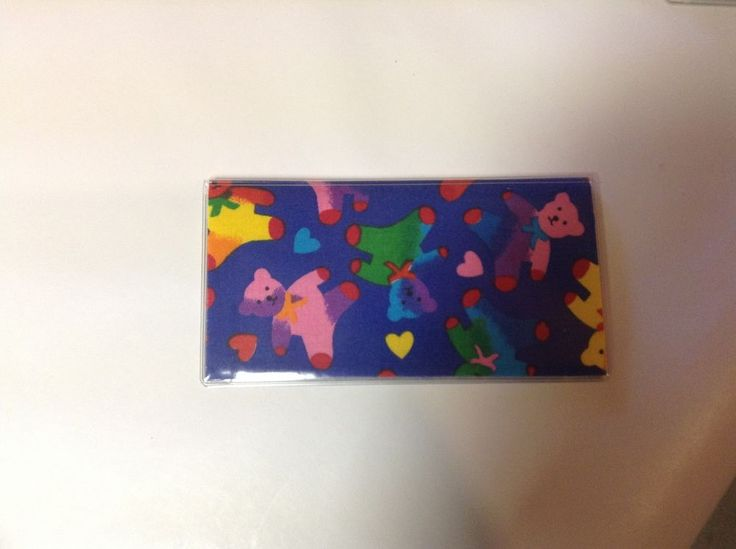 Multi-Color Teddy Bears Checkbook Cover, Checkbook Covers For Duplicate Checks #Handmade