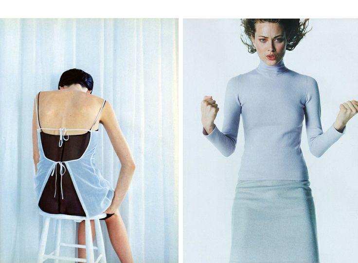 1997 Стелла Теннант в итальянском Vogue, май;  и Шалом Харлоу в британском Vogue, сентябрь
