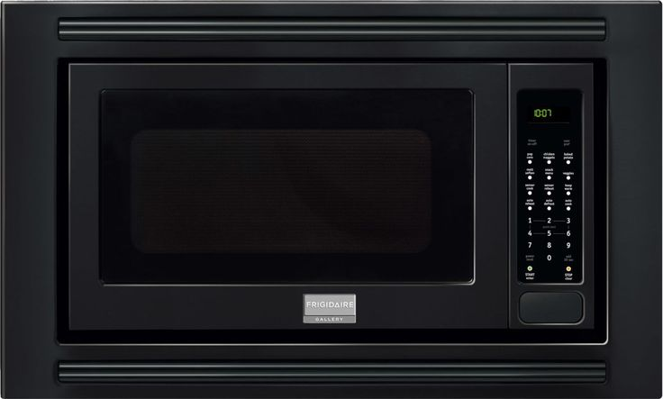 Frigidaire FGMO205K 2 Cubic Foot Built-In Microwave with 1200 Watts Effortless Black Microwave Ovens Microwave Built-In