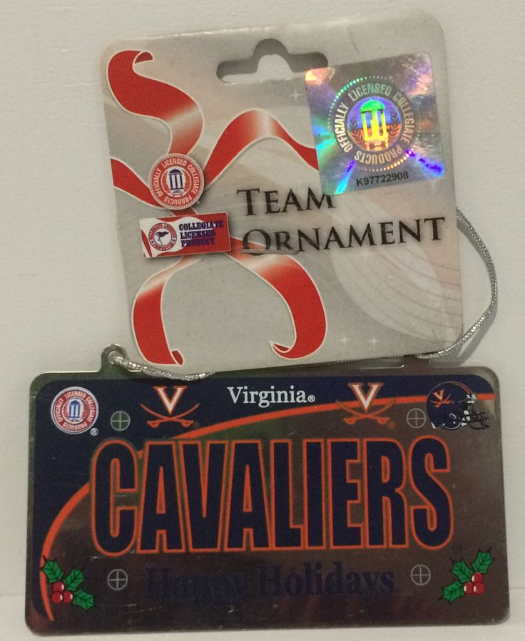 (TAS014087) - Forever Collectibles Virginia Cavaliers Team Ornament