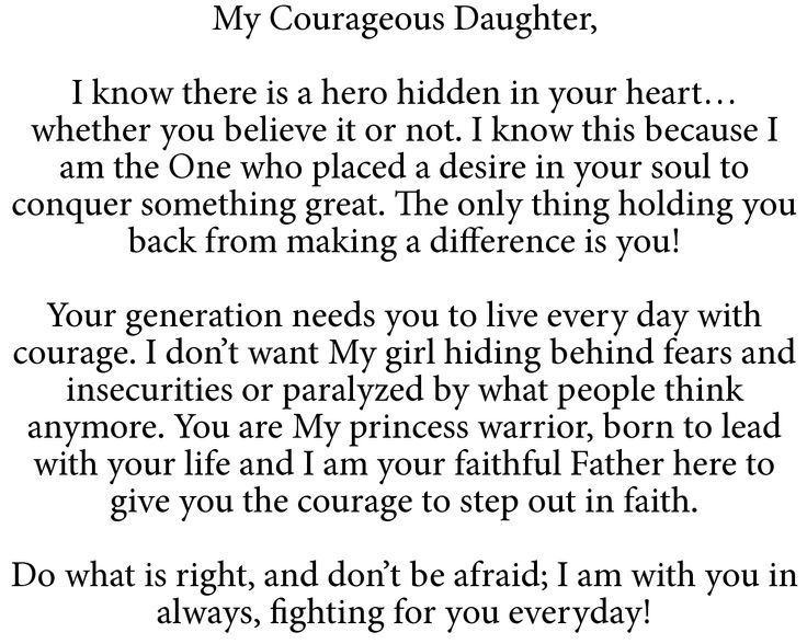 To My Courageous Daughter.. | Spiritual Inspiration ...