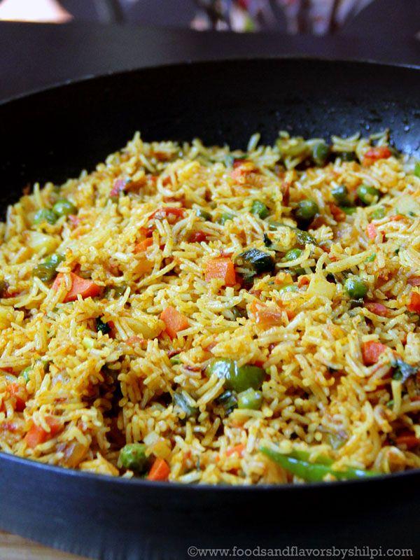 Tawa Pulao | Pavbhaji Pulao - Spicy Tawa pulao with lots of veggies and rice with the aroma of bhaji of pav bhaji.