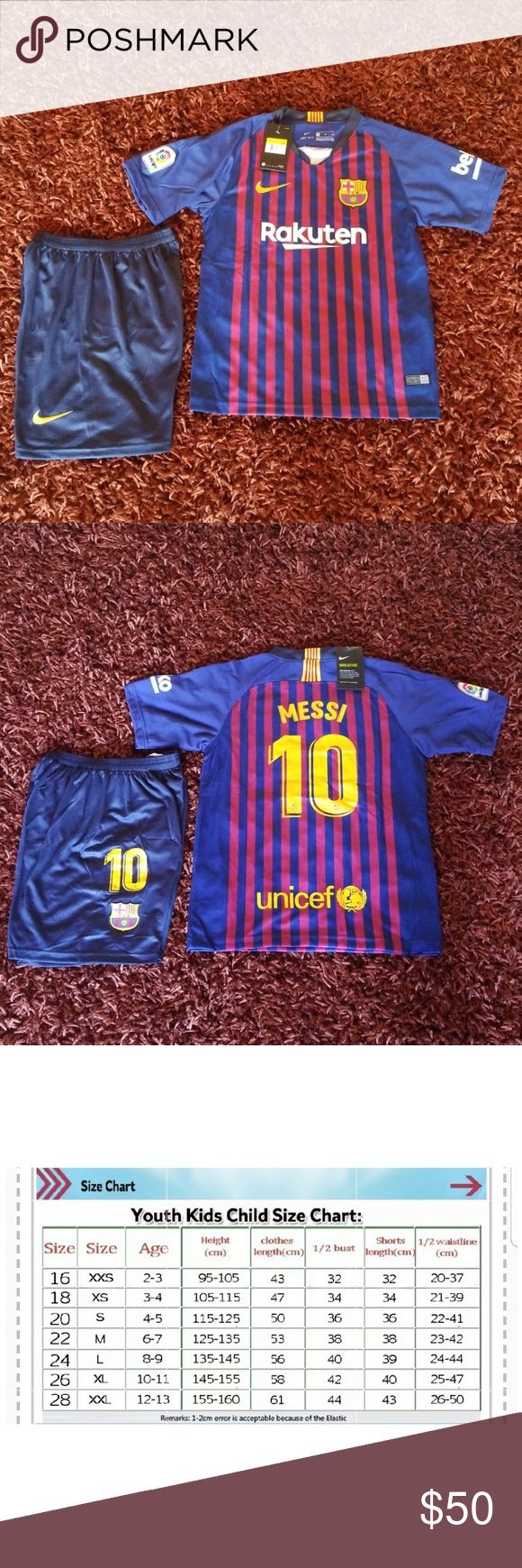 BARCELONA 2018/19 MESSI KID UNIFORM SOCCER JERSEY Brand new  Never used  Same bussiness day shipping Perfect gift for your friend, boyfriend or husban…