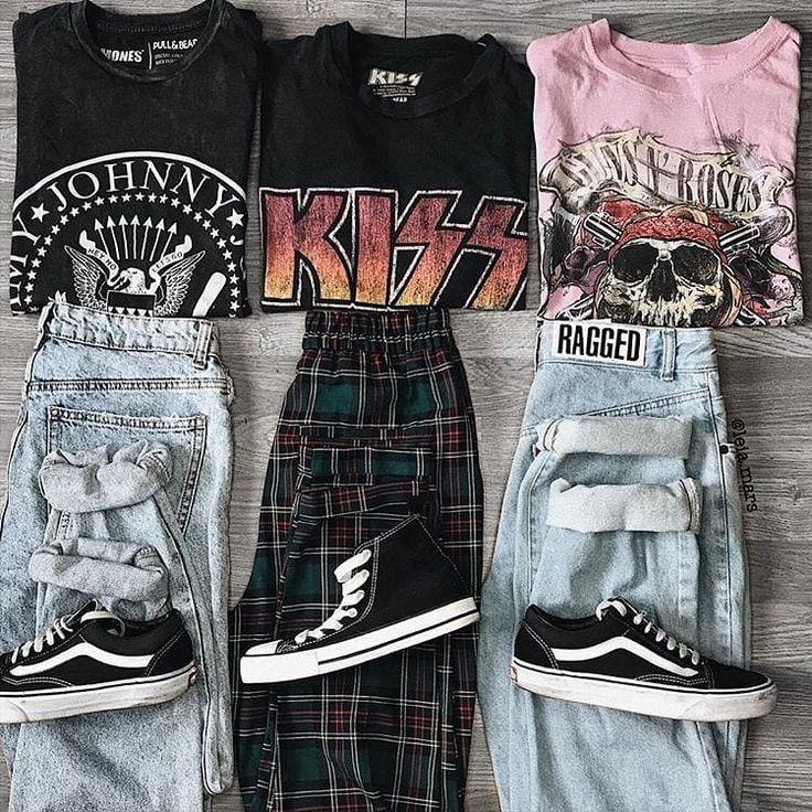 Welcher!?? 1. Ramones / 2. Kiss oder 3. G & R? . FOLGEN SIE @grungephantom FÜR MEHR   - Women Fashion - #amp #fashion #Folgen #für #grungephantom