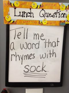 Exit Ticket - great idea! Use a dry erase board with the question. Have students line up and whisper answer to teacher on the way to lunch! No paper! I like it better as the students enter the room from after lunch - it would help to calm them down quickly and help avoid all the talking before getting to their chair.