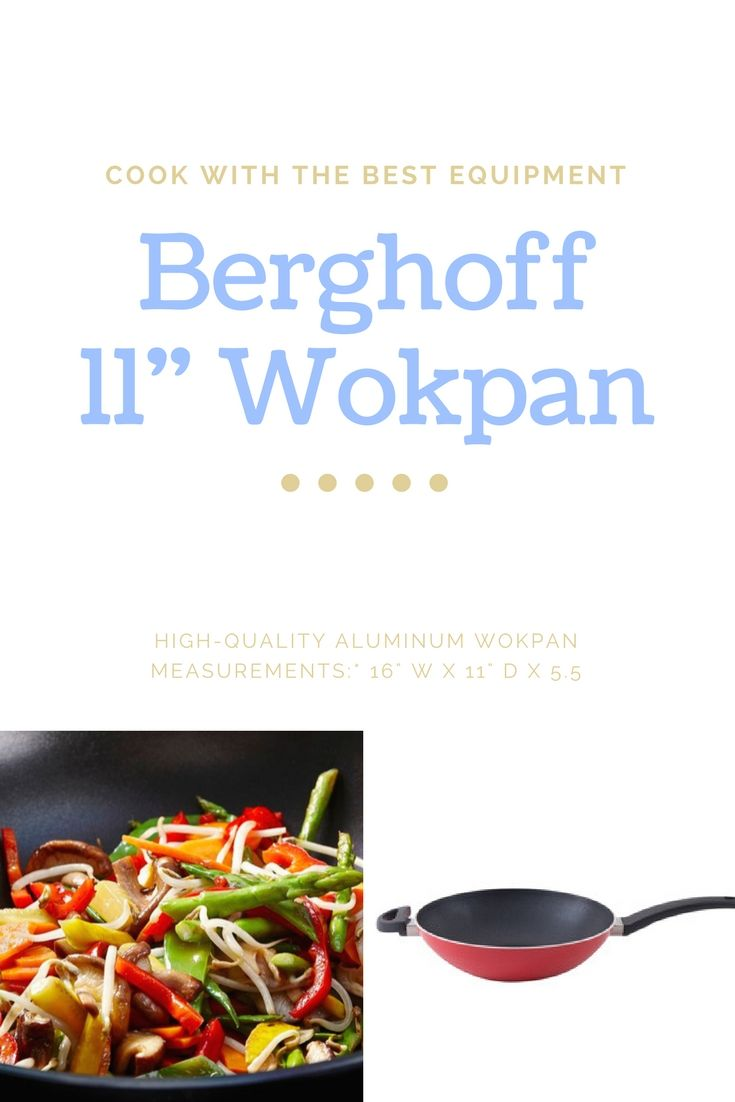 "11"" Wokpan: *High-quality aluminum wokpan *Features large phenolic resin stay cool handles *Metal utensil-safe *Base with great heat conduction *Measurements:* 16"" W x 11"" D x 5.5"" H  #cooking #food #wok #stirfry #affiliate"