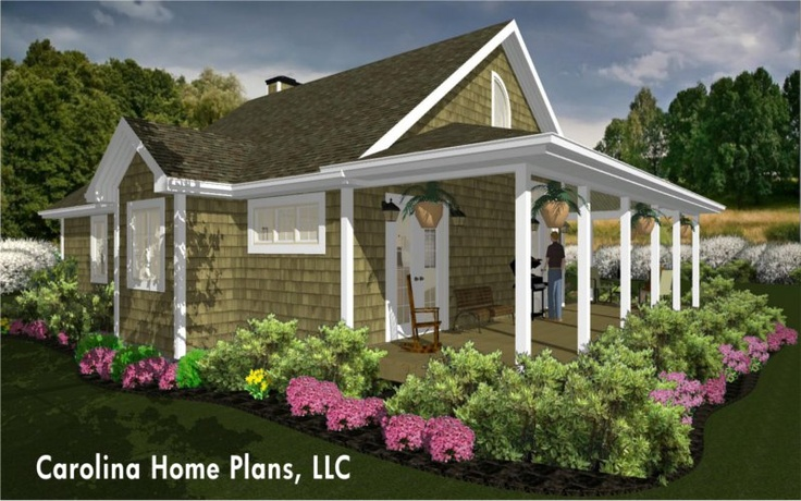 76 best images about house plans with porches on pinterest for Summer cottage house plans