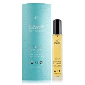 || Destress Express Certified Organic Hair & Body Oil - $46 || Moisturizing treatment oil that nourished scalp, hair and body. Regular use can protect against environmental stress and pollutants and improve hair and skin texture, evenness and luminosity. Nourish, condition and restore hair and scalp with express-cooling therapeutic treatment.