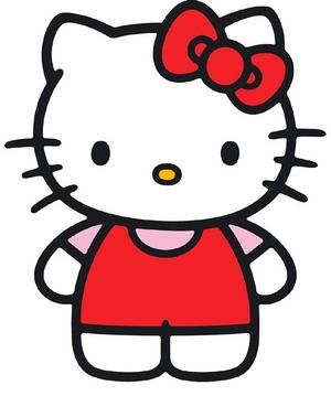 This is a picture of Hello Kitty. She is so cute. One of my best friends also likes her.