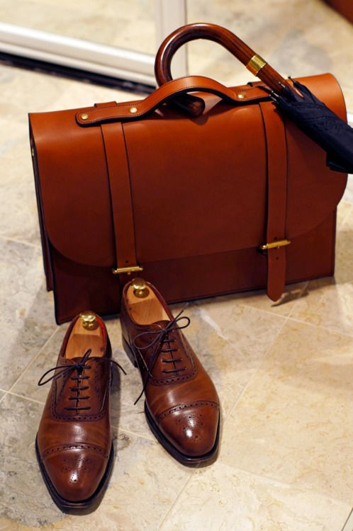 leather swag #leather #shoes #men #style #briefcase