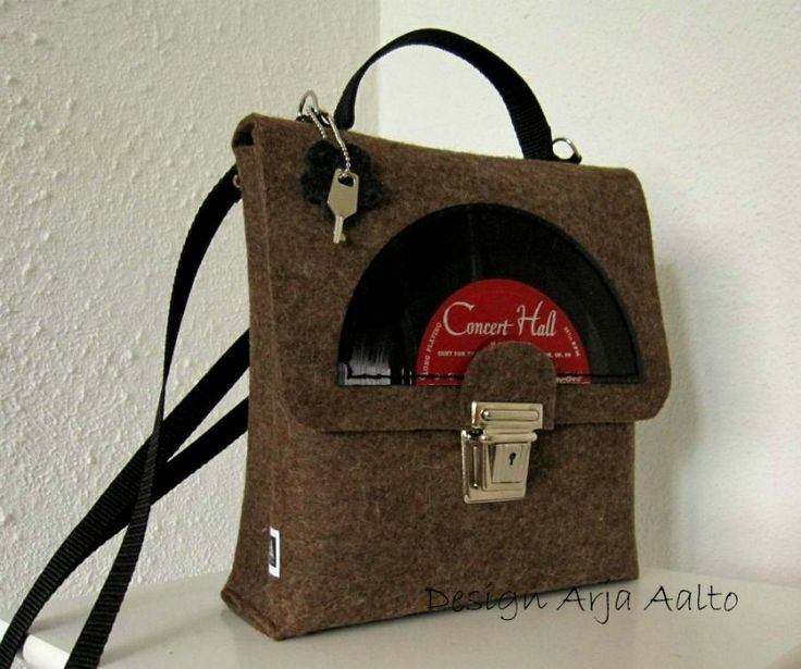 Wool felt handbag to lady who has just released a new music album.