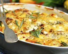 Gratin provençal au chèvre frais et thym : http://www.fourchette-et-bikini.fr/recettes/recettes-minceur/gratin-provencal-au-chevre-frais-et-thym.html