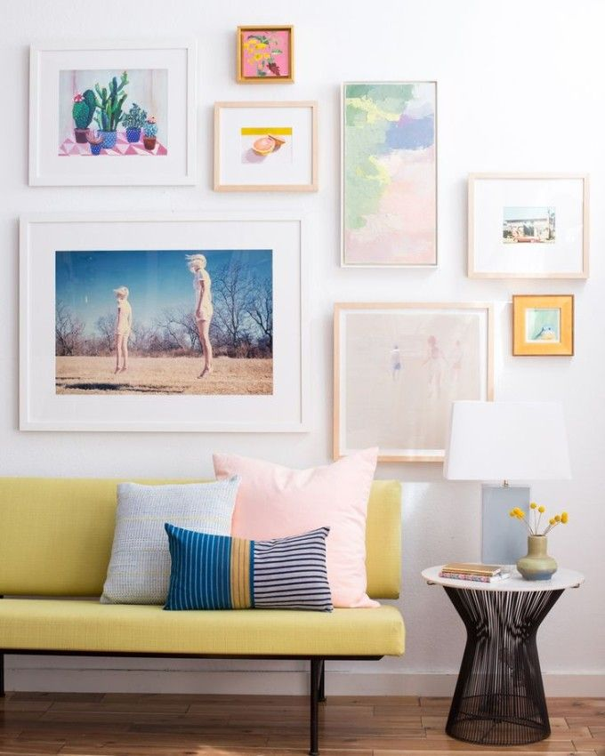 Designer Emily Henderson shows us how to best hang art at home.