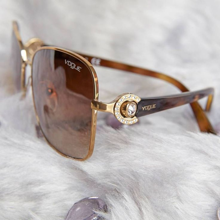 Re-post from VogueEyewearr Elegance lies in the tiny details: 14 precious crystals will light up your eyes! #YYCFashion #YYCStyle #Sunglasses #Classy