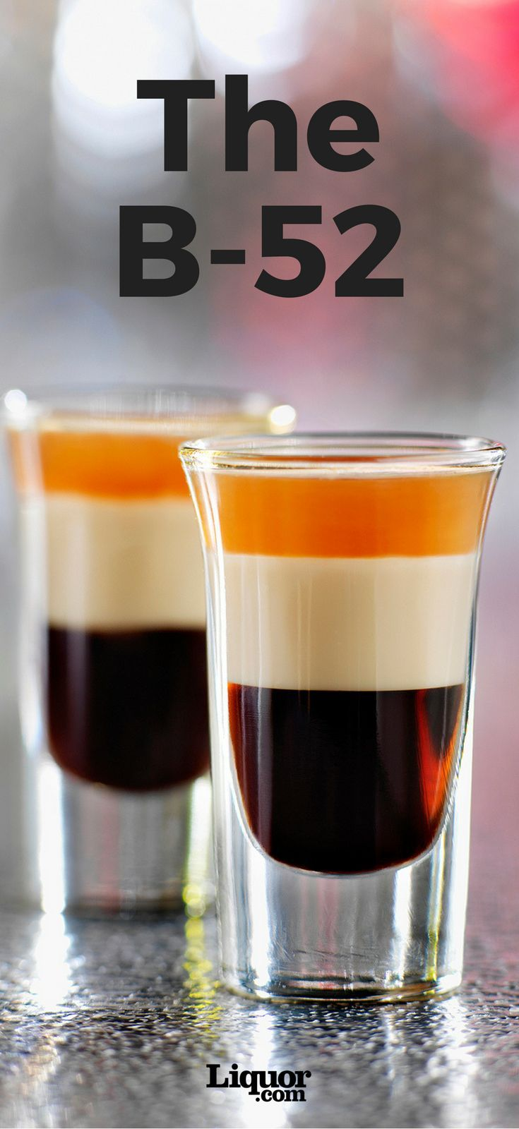 Believed to have originated in the 1970 by a bartender and fan of the iconic band, the B-52 is classic guilty pleasure armed with three liqueurs. Make this layered shooter in seconds and impress all your friends.