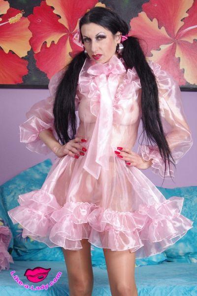 Luxurious Glass Silk Sissy Dress Like A Lady Com