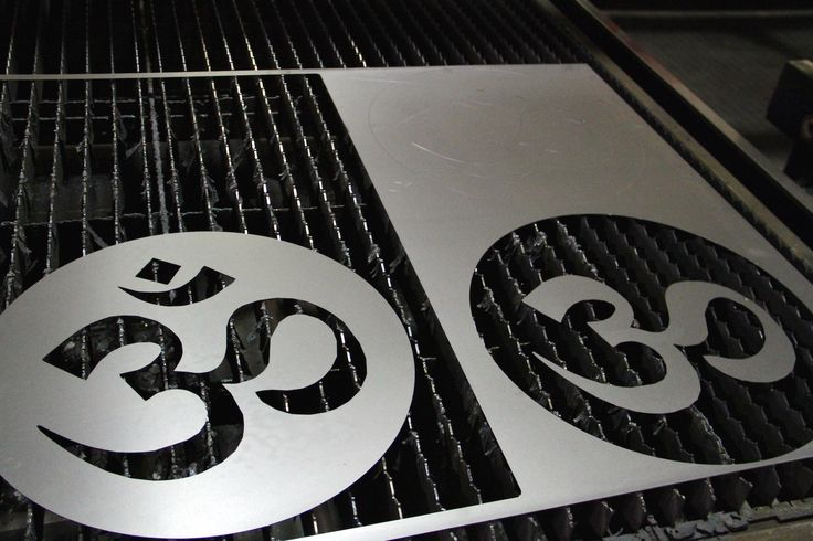 Hari Om created by using a laser cutting equipment - CMMLASER