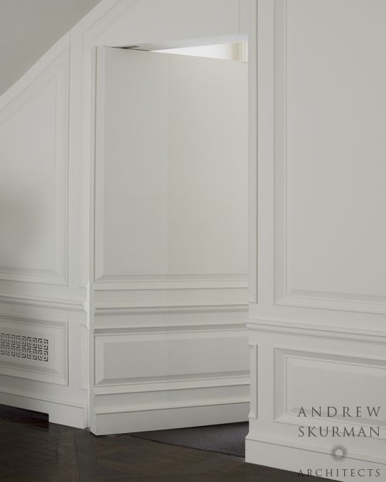 blind door- elevator in living room