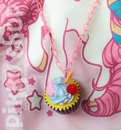 Delicious Cupcake Necklace from Pikku Shop | www.pikku-shop.com
