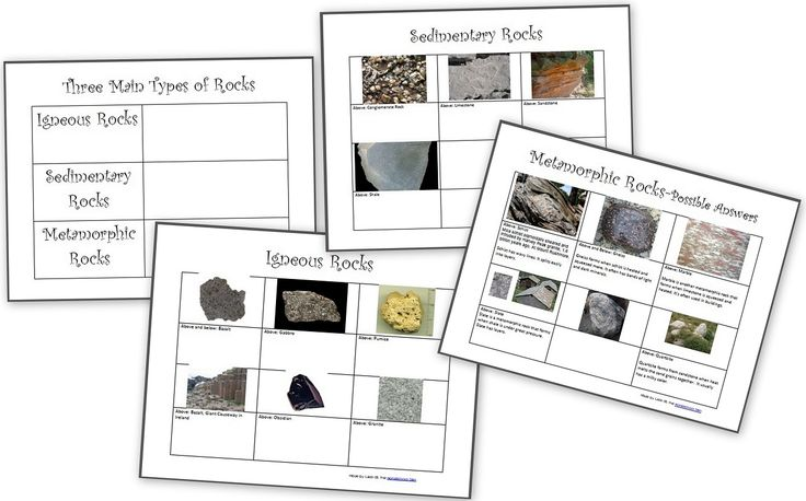 The Three Types of Rocks– Our Activities and a Free Worksheet Packet about igneous, sedimentary and metamorphic rocks - Homeschool Den