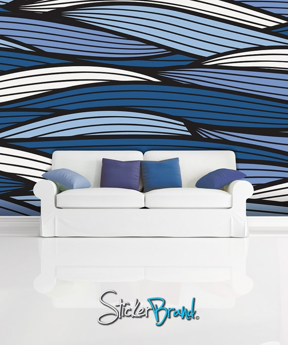 Wall Mural Decal Sticker Bristle Ocean Blue Color MCrespo123