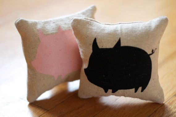 Piggy Pillow  Pig Lovers by BEtimeless on Etsy, $10.50