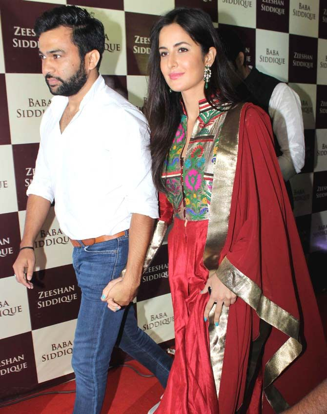 Katrina Kaif arrived hand-in-hand with Ali Abbas Zafar at Baba Siddique's iftar party. #Bollywood #Fashion #Style #Beauty #Hot #Desi #Ethnic