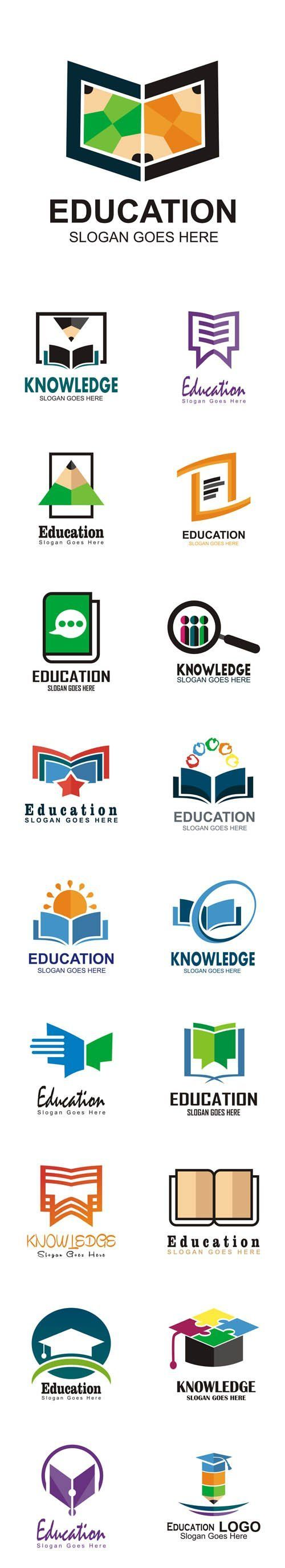 Vector Education Logos Study Symbol Graduation Icon