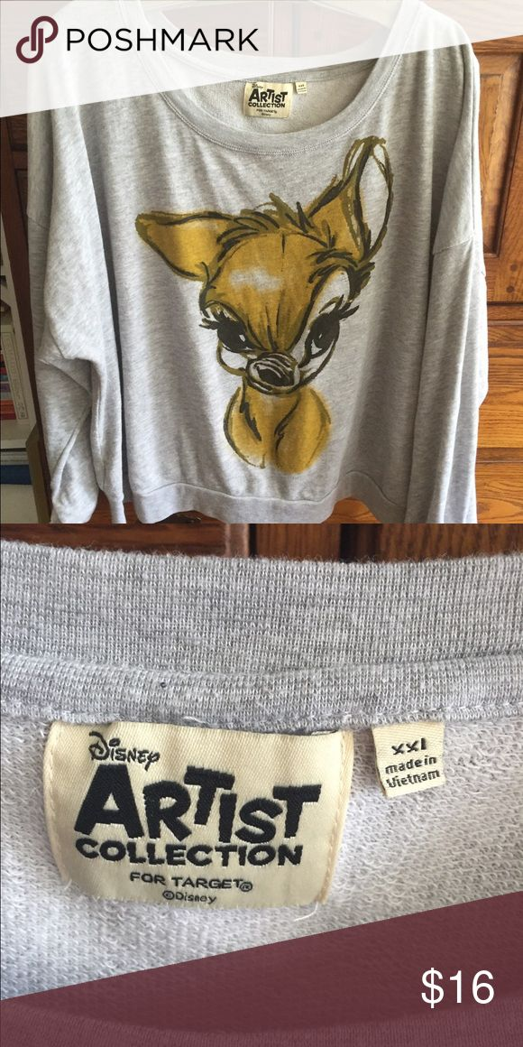 Adorable Disney sweatshirt XXL jr Adorable Disney/Bambi sweatshirt. Target. Worn once. Too cropped for me. Jr. Size XXL Disney for Target Tops Sweatshirts & Hoodies