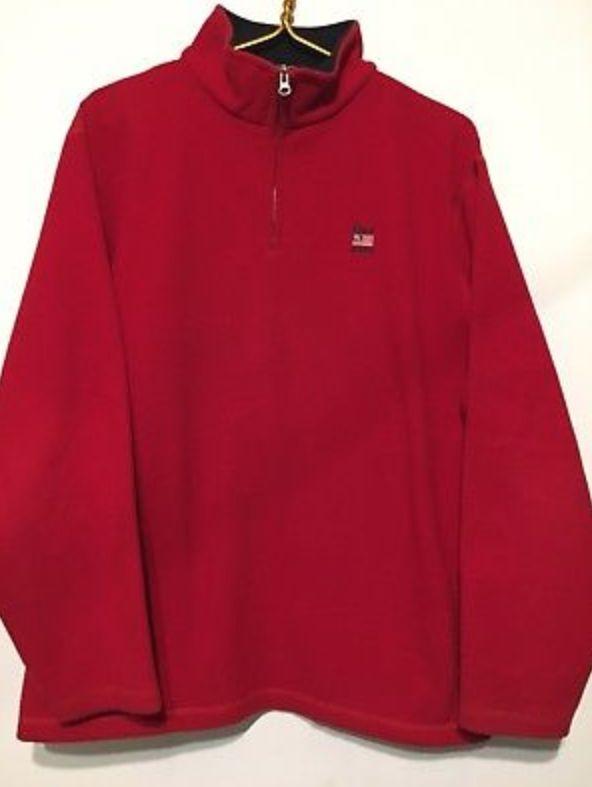FOR SALE: Polo Jeans Ralph Lauren Red Polartec Vintage Fleece Jacket size L