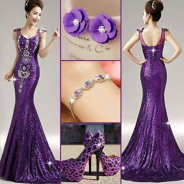 Absolutely beautiful purple evening gown♡