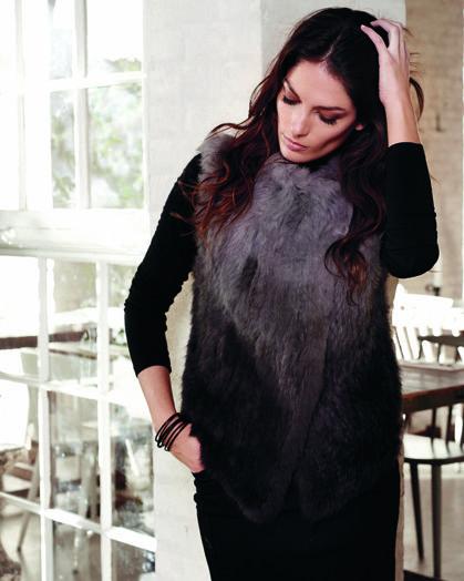 soyaconcept - fur - waistcoat - blouse - pants