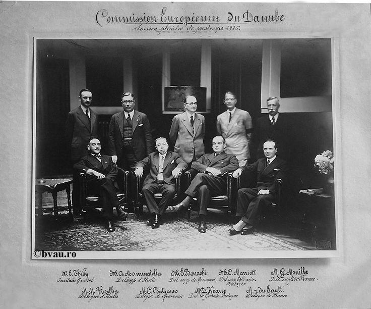 """Comisia Europeană a Dunării, 1936, Galati, Romania. Imagine din colecţiile Bibliotecii Judeţene """"V.A. Urechia"""" Galaţi."""